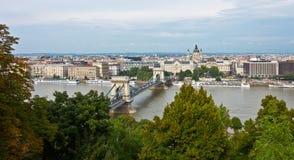 Kettenbrücke stockfotografie
