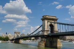 Kettenbrücke, Budapest Stockbild