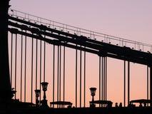 Kettenbrücke in Budapest Lizenzfreies Stockbild