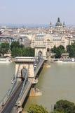 Kettenbrücke in Budapest Lizenzfreies Stockfoto