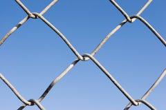 Kettenglied-Zaun (Reihen) lizenzfreie stockbilder