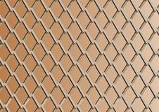 Kettengliedzaun mit kupfernem Hintergrund Lizenzfreies Stockfoto