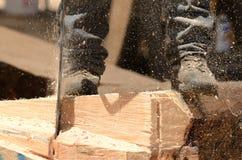 Kettensägen-Skulptur Lizenzfreie Stockbilder