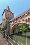 Kettensteg sobre Pegnitz Fotografía de archivo libre de regalías