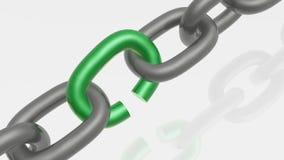 Ketting met groene link vector illustratie