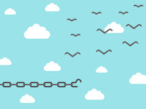 Ketting omgezet in vogel Vector Illustratie