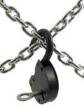 Ketting op lock_2 Royalty-vrije Stock Foto