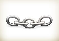 Ketting, pictogram royalty-vrije illustratie