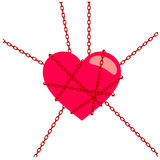 Ketting van hart Stock Fotografie