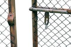 Ketting-verbinding Omheining Gate Stock Afbeeldingen