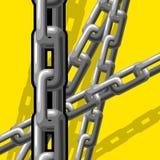 Kettingen (illustratie) Stock Afbeeldingen