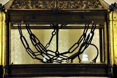 Kettingen van Heilige Peter in San Pietro in Vincoli-kerk Royalty-vrije Stock Fotografie