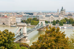 Kettingsbrug, Boedapest, Hongarije royalty-vrije stock afbeelding