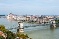 Kettingsbrug, Boedapest, Hongarije royalty-vrije stock afbeeldingen