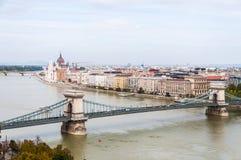 Kettingsbrug, Boedapest, Hongarije royalty-vrije stock fotografie