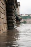 Kettingsbrug en Buda Embankment, Boedapest Stock Afbeelding