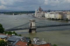 Kettingsbrug en het Parlement Royalty-vrije Stock Afbeelding