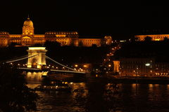 Kettingsbrug en het Parlement Huis royalty-vrije stock foto's