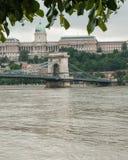 Kettingsbrug en Kasteel, Boedapest Royalty-vrije Stock Foto's