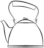 Kettle. Outline of a kettle, for boiling water Stock Illustration