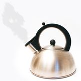 Kettle. With steam isolated on white royalty free stock photo