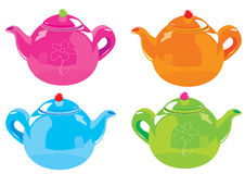 Kettle. Vector illustration set of colorful beautiful Kettle Stock Photos
