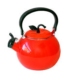 Kettle. Retro kettle isolated with clipping path included Stock Photo