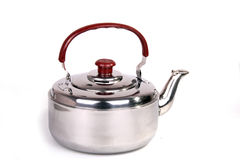 Kettle. On a white background royalty free stock image