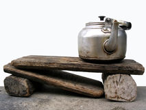 Kettle. Rustic Kettle stock photo