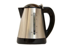 Kettle. Metal kettle isolated on white Stock Photos