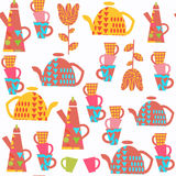 Kettle abstract seamless pattern. It is located in swatch menu, Stock Image