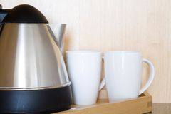 Kettle And Mugs Royalty Free Stock Photography