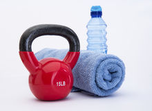 Kettle Ball Workout Royalty Free Stock Images