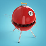 Kettle barbecue charcoal grill with folding metal lid for roasting, BBQ render isolated Stock Photos