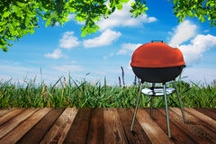 Kettle barbecue grill Royalty Free Stock Photography