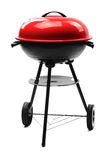 Kettle barbecue grill with cover Stock Photo