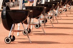 Kettle barbecue grilles Stock Images