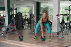 Kettle Bell Exercise Royalty Free Stock Image