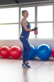 Kettle Bell Exercise Stock Photography