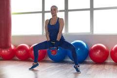 Kettle Bell Exercise Stock Photos