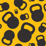 Kettle bell seamless vector pattern stock illustration