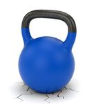 Kettle bell weight and ground crack Royalty Free Stock Photography