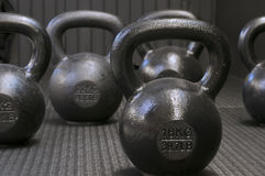 Kettle-bells Stock Images