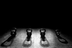 4 kettle bells Royalty Free Stock Images