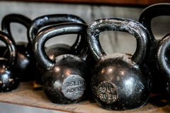 Kettle bells Stock Images