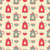 Kettle and bowl pattern Stock Photography