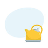 Kettle. Catoon teapot Royalty Free Stock Photo