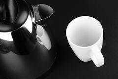 Kettle and Cup Stock Images
