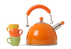 Kettle and cups Stock Photo