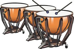Kettle Drums. A digital illustration of kettle drums Stock Image